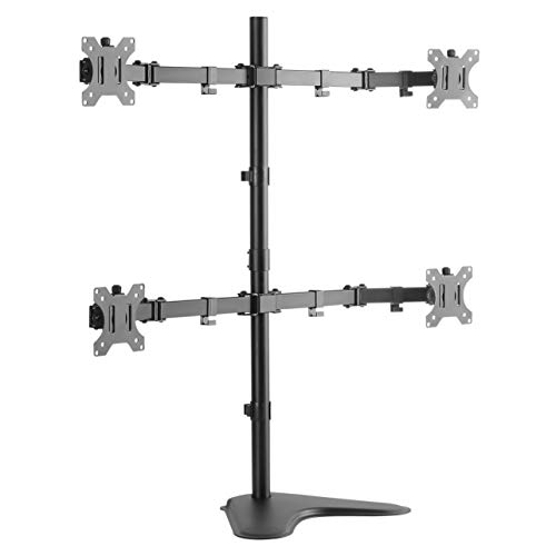 Allsortsoutlet Quad LCD LED Monitor FREESTANDING Desk Mount Stand Heavy Duty Fully Adjustable Fits 4 / Screens UP TO 24, [Importado de Reino Unido]