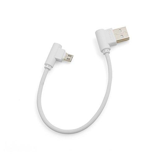 System S Micro USB Kabel rechts gewinkelt zu USB 20 Typ A rechts Winkel 20 cm in Weis