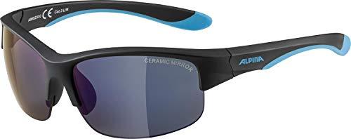 Alpina FLEXXY YOUTH HR Sportbrille, Kinder, black-blue matt, One size