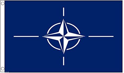1000 Flags Organisation du traité de l'Atlantique Nord OTAN Drapeau 3 'X2' (90 cm x 60 cm) – Polyester tissé
