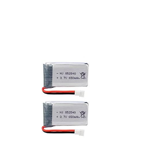 802540 Batería Recargable De PolíMero De Iones De Litio De 3.7 v 650 Mah, Adecuada para Control Remoto De Walkie-Talkie con Grabadora De Conducción De Luz Led 2pcs White