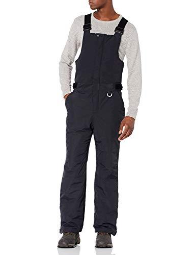 Amazon Essentials Men's Water-Resistant Insulated Snow Bib Overall, Black, Medium