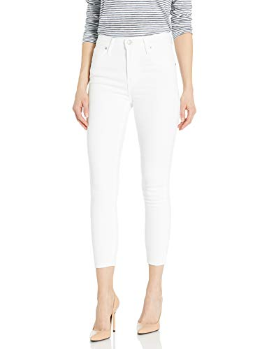 Levi's Women's Mile High Skinny Ankle Jeans, Soft Clean White, 24 (US 00)