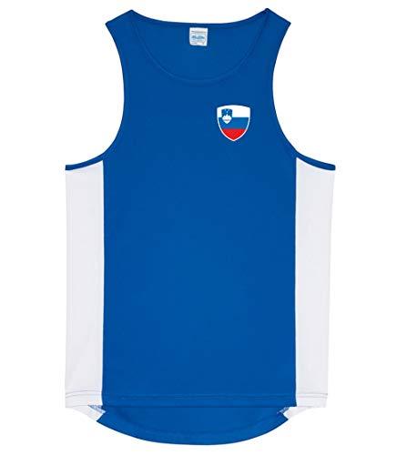 Nation Slowenien Tank Top Trikot Ärmellos Sport Fitness ATH BR-B (L)