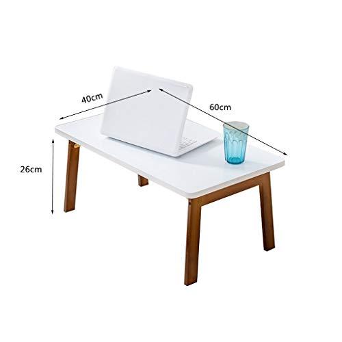 Büromöbel-LiuJF Rechthoekige tafel, bamboebed, bureau, woonkamer, slaapkamer, laptop, tafel, kinderkamer, werkkamer, kleine salontafel, lage tafel, verdikte plaat 80 * 48 * 37cm Wood Primary Color
