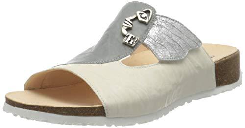Think! Damen Mizzi_3-000124 nachhaltige Hausschuh Pantolette, 1000 Ivory/Kombi, 37 EU