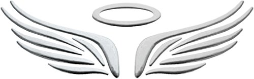 carstyling XXL Autocollant 3D-Chrome Dimension Angel Wings Argent 60 x 180 mm