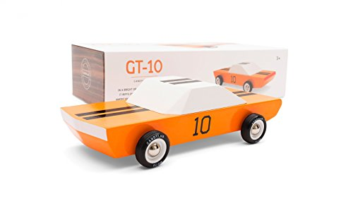 Candylab Toys Wooden Cars, GT10 Model, Modern Vintage Racer Collectible, Kids Toy Cars, Solid Beech Wood