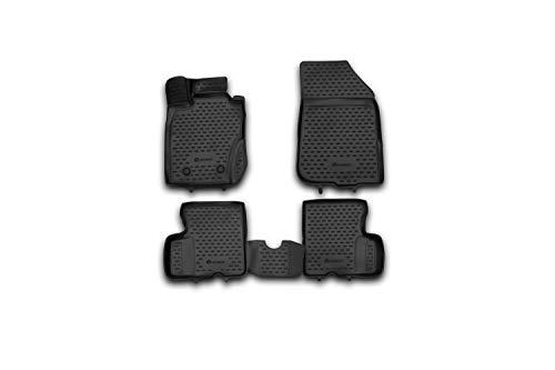 Element EXP.NLC.3D.41.28.210kh - Alfombrillas de Goma Antideslizantes para Dacia Duster I 4WD tracción a Las 4 Ruedas 2010-2017, Color Negro