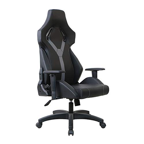 TOPSKY All Molded Foam Video Gaming Chair for Home and Office (Black and Gray)