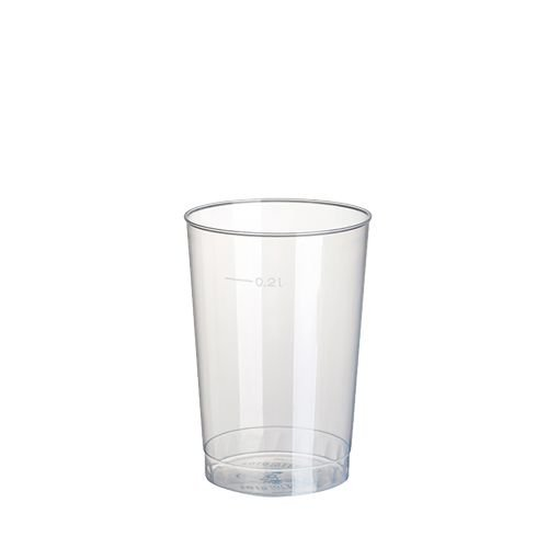 80 Trinkbecher Polystyrol 0.2 L, Ø 6.8 x 9.8 cm, transluzent unzerbrechlich