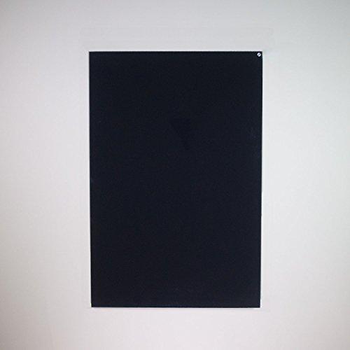 Infrapower INFRA-VCIR-600-G-B pannello radiante ad infrarossi in vetro nero senza profilo 600 Watt Montabile in orizzontale o verticale a parete o soffitto Misure 60x90x2,5 cm