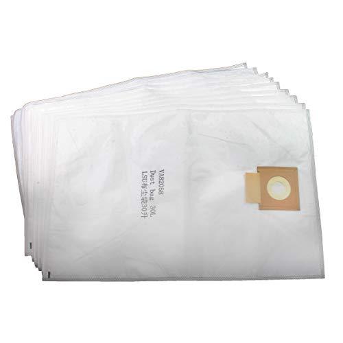 Viper (Nilfisk) VA82058-P10 HEPA SMS - Bolsas de Microfibra para el Polvo (30 L, 10 Unidades, para LSU135, VL100, Color Blanco