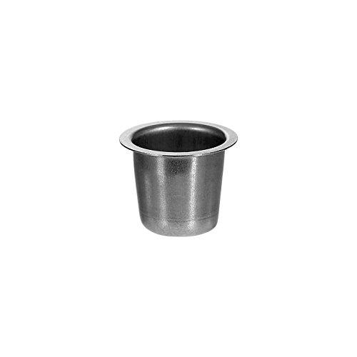 Porta candela conica Argento 22mm–opzionale con salvagoccia–Perfetto per la candela beccuccio per candele coniche, Argento, Kerzentülle 4er Set