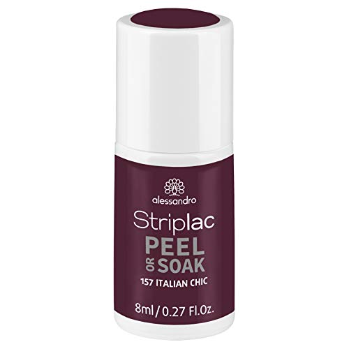 alessandro Striplac Peel or Soak Italian Chic - LED-Nagellack in Rotbraun - Für perfekte Nägel in 15 Minuten, 8 ml