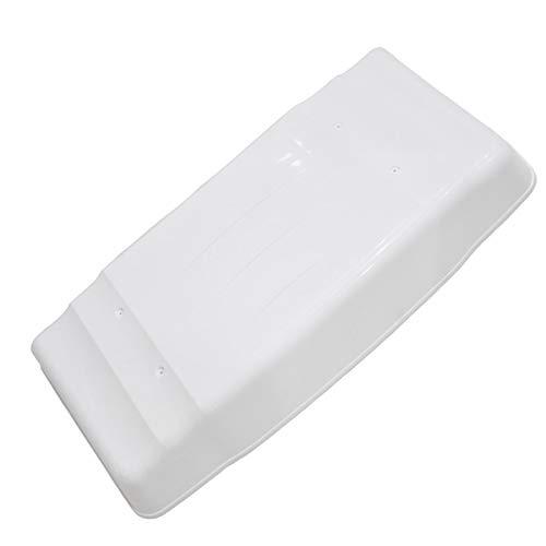 LSXIAO Klimaanlage Startseite, PVC Schneedecke, Regenfest Staubdicht Anti-Rost Innen Mit Klebeband Ausgestattet Mit 2 Drahtseilen (Color : White, Size : 115x46x15cm)