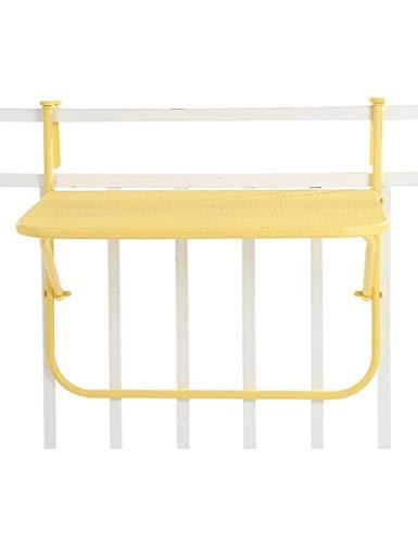 Dongy creatieve eenvoudige casual tafels metaal ijzer gaas balkon opknoping muur opknoping klaptafel studie tafels geel, L*B*H, 73 * 53 * 64cm