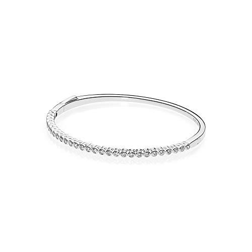 Pandora Damen-Armreif 925 Silber Zirkonia weiß 19 cm - 590531CZ-3