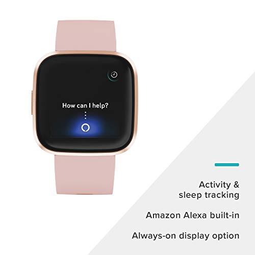 Fitbit Versa 2 - Smartwatch de salud y forma física, Rosa pétalo/rosa cobrizo, con Alexa...
