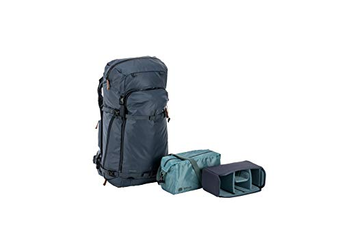 Shimoda Explore 60 Adventure Camera Backpack for DSLR and Mirrorless Cameras - Starter Kit (w/ 2 Small Core Units) - Blue Nights (520-013)