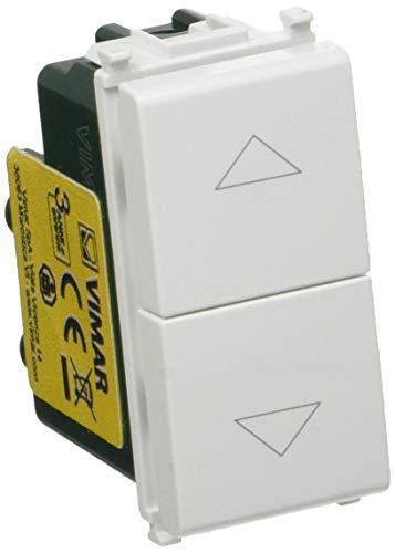 Vimar 0R14062 Plana Due Pulsanti interbloccati con frecce direzionali 1P NO + 1P NO 10 A 250 V~ Bianco