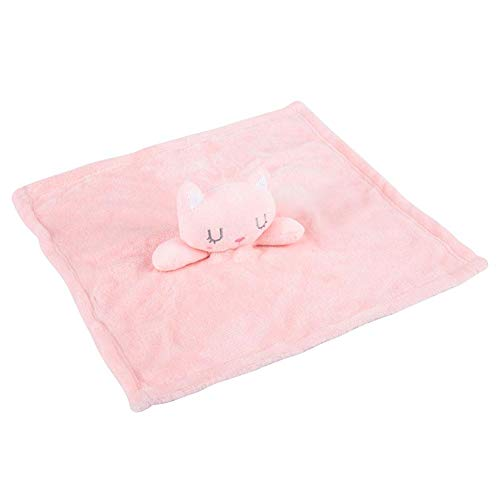 Toalla, toalla suave para bebé, formas de animales adorables, 2 colores para bebé, manta para bebé, calmante emocional para 0-12 meses(Pink, fox)