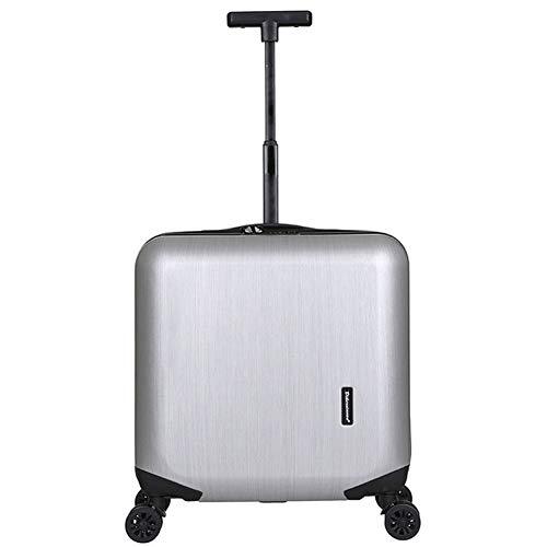 GNNHY Single Lever Kleine Trolley Case, Draag op Hand Cabin Bagage- Harde Shell Reistas/Lichtgewicht Duurzaam/4 Spinner Wielen/Wachtwoordslot Boarding/Mannen En Vrouwen Fashion Box
