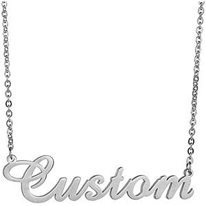 ZTZ Colar com nome personalizado, colar com placa de identificação personalizada para qualquer nome Presentes personalizados para mulheres e meninas