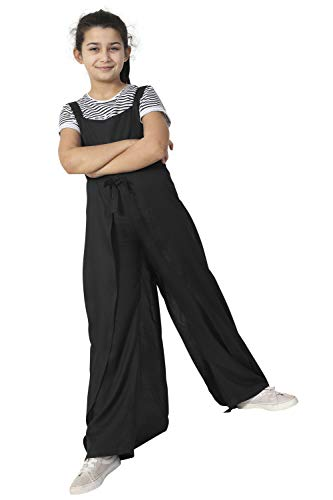 Wash Clothing Company meisjes-jumpsuit met wijde beenuitsnijding - zwart leeftijd 3-12 kindermode PUMPKINBLK