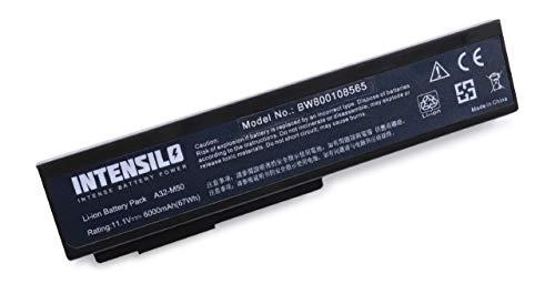 INTENSILO Akku für Asus X64, X64J, X64JA, X64JQ, X64JQ, X64JV, X64V, X64VG Notebook Laptop wie A32-M50, A32-N61, A33-M50 - (Li-Ion, 6000mAh, 10.8V)