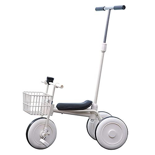 LINQ Bersey Kids Trike - Pulsero de Empuje para Padres Cochecito de Triciclo, diseño Simple, Bicicleta de Equilibrio para niños con Pedales Ajustables