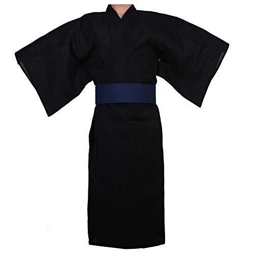 Herren japanischer Yukata japanischer Kimono Home Robe Schlafanzug Morgenmantel # 04