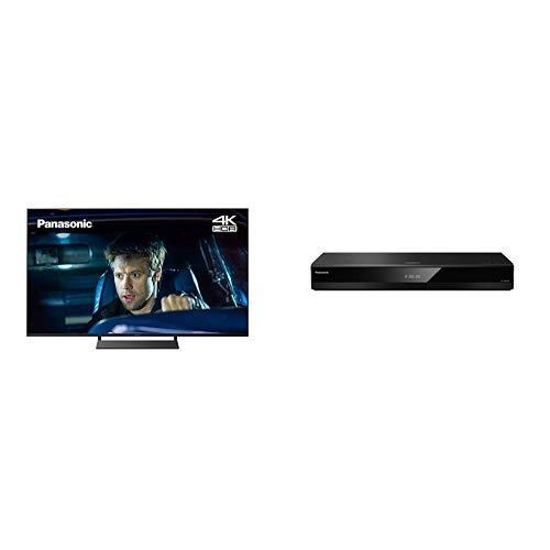 Panasonic TX-40GX800B 40 inch 4K Ultra HD HDR TV and DP-UB820EB-K Ultra HD Blu-Ray Player with Dolby Vision, HDR10+ & HCX Processor