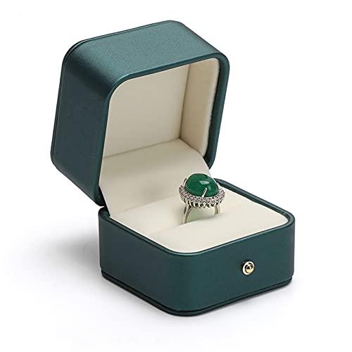 Titular de collar Caja de joyería Caja de cuero PU, joyas de terciopelo para propuesta de compromiso, regalo de boda-joyería de almacenamiento de caja de almacenamiento Pendientes de anillo de joyería