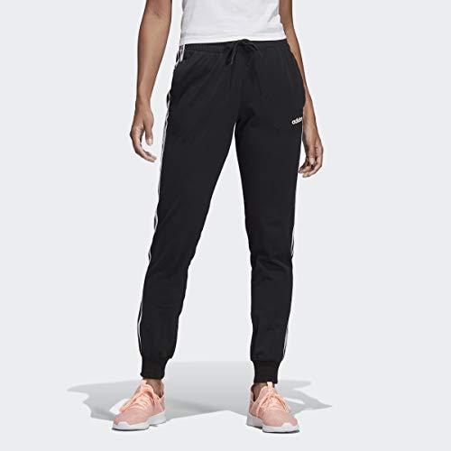 adidas Essentials Damen-Hose mit 3 Streifen, Schwarz/Weiß, L/A