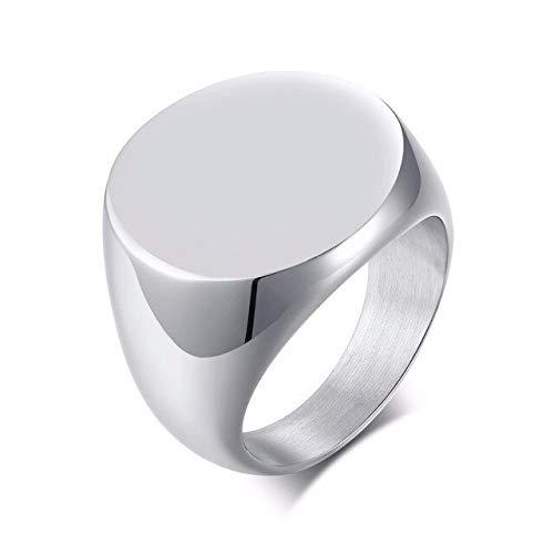 YDMZMS Anillo superior redondo de acero inoxidable para dedo meñique, de color negro y dorado 9, no tallado.