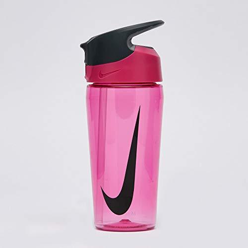 Nike Hypercharge - Borraccia unisex con cannuccia, 16 oz, colore: Rosa/Nero