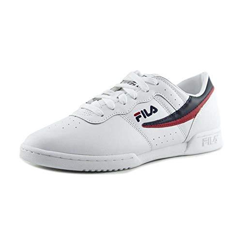 Fila Womens Original Fitness White/Navy/Red Sneaker - 8.5
