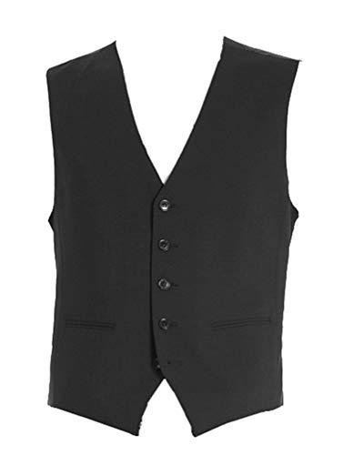 Michaelax-Fashion-Trade Benvenuto Black - Regular Fit - Herren Baukasten Weste (Artikel: 20097, Modell: 60211), Größe:50, Farbe:Schwarz (4000)