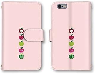 【ノーブランド品】 Optimus G pro L-04E スマホケース 手帳型 フルーツ イラスト ピンク かわいい おしゃれ 携帯カバー L-04E ケース