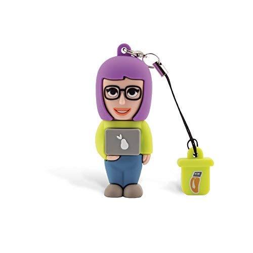 Professional Usb Informatico Donna, Simpatiche Chiavette USB Flash Drive 2.0 Memory Stick Archiviazione Dati, Portachiavi, Pendrive 8 GB