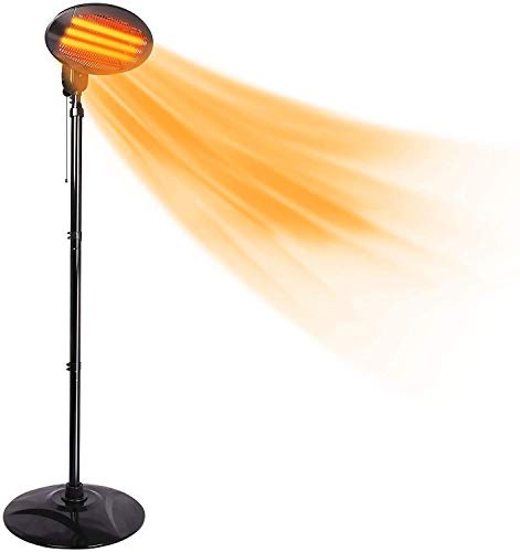 Electric Patio Heater - 2000W Outdoor Heaters Free Standing Garden Patio Heater