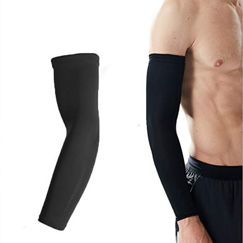 Arm Protection Sleeves,Cool Arm Sleeves UV Protection Men Women Youth Arm Warmers Hand Cover Arm Sleeves Driving Cycling Golf Baseball Basketball Outdoor Sport Cover Elbow Sleeves -1 Pair M/L/XL Size