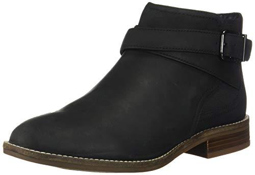 Clarks Women's Camzin Hale Ankle Boot, Black Leather, 100 M US