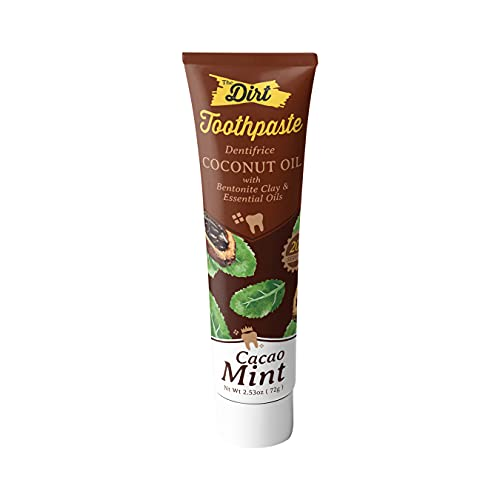 The Dirt Gluten & Fluoride Free Coconut & MCT Oil Toothpaste - Botanically Sweetened Toothpaste, No...