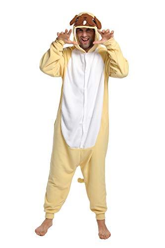 dressfan Onesie Adulto Unisex Animal Onesie Perro Disfraz de Halloween Cosplay Disfraz de Navidad