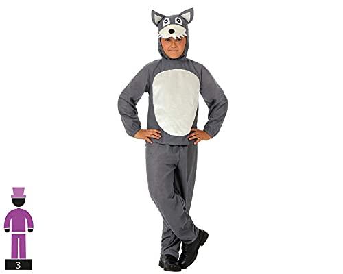 Atosa-10815 Costume-Déguisement Loup 10-12, Garçon, 10815, Gris, De De 10 à 12 ans