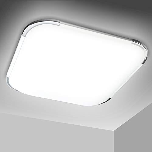 VINGO LED Deckenlampe, Farbwechsel Deckenleuchte Wohnzimmer Lampe für Schlafzimmer, Küche, Bad, Büro, IP44, Rund, (18W Kaltweiße, 18W Viereckig)
