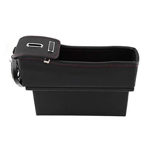 Car Seat Organizer - Autostoel Side Storage Box Auto zitconsole Pocket Organizer Water Cup Holder Black