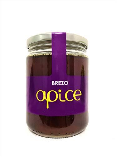 MIEL ÁPICE | Miel de brezo pura 100{d25e14a688479510ba806ca78416b021ebdcb16b72be20ad5b7dec7a4f87ec1e} natural | 500 g | Miel gallega sin conservantes, sin pasteurizar, sin calentar, sin aditivos y ecológica | Completamente artesanal | Miel de Galicia